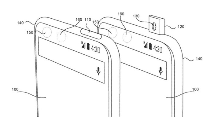 Um desenho de dois celulares.