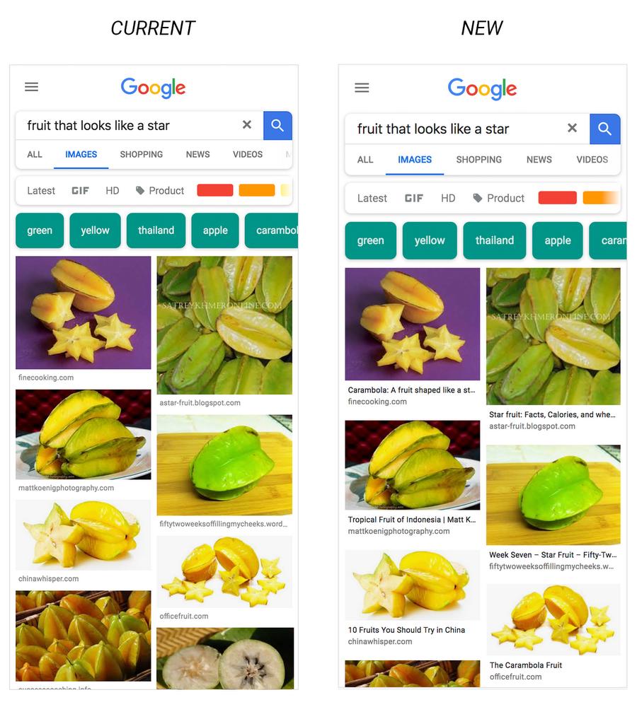 Comparação Google Imagens