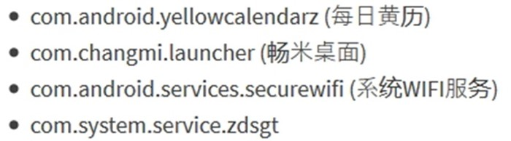 malware names