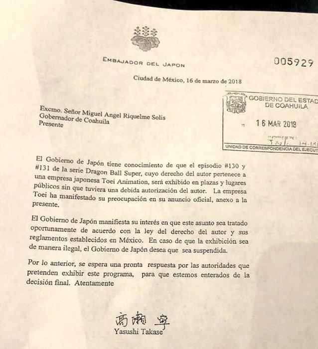 Carta Japão México