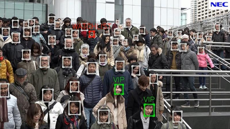 NEC reconhecimento facial