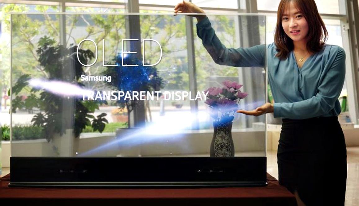tv transparente samsung