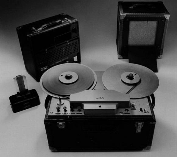 Um gravador de voz.