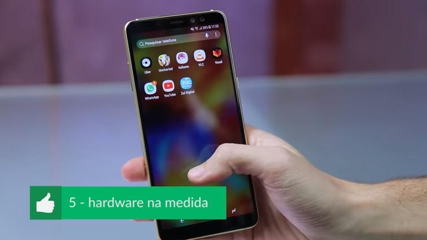 Samsung Galaxy A8+ Pros e Cons