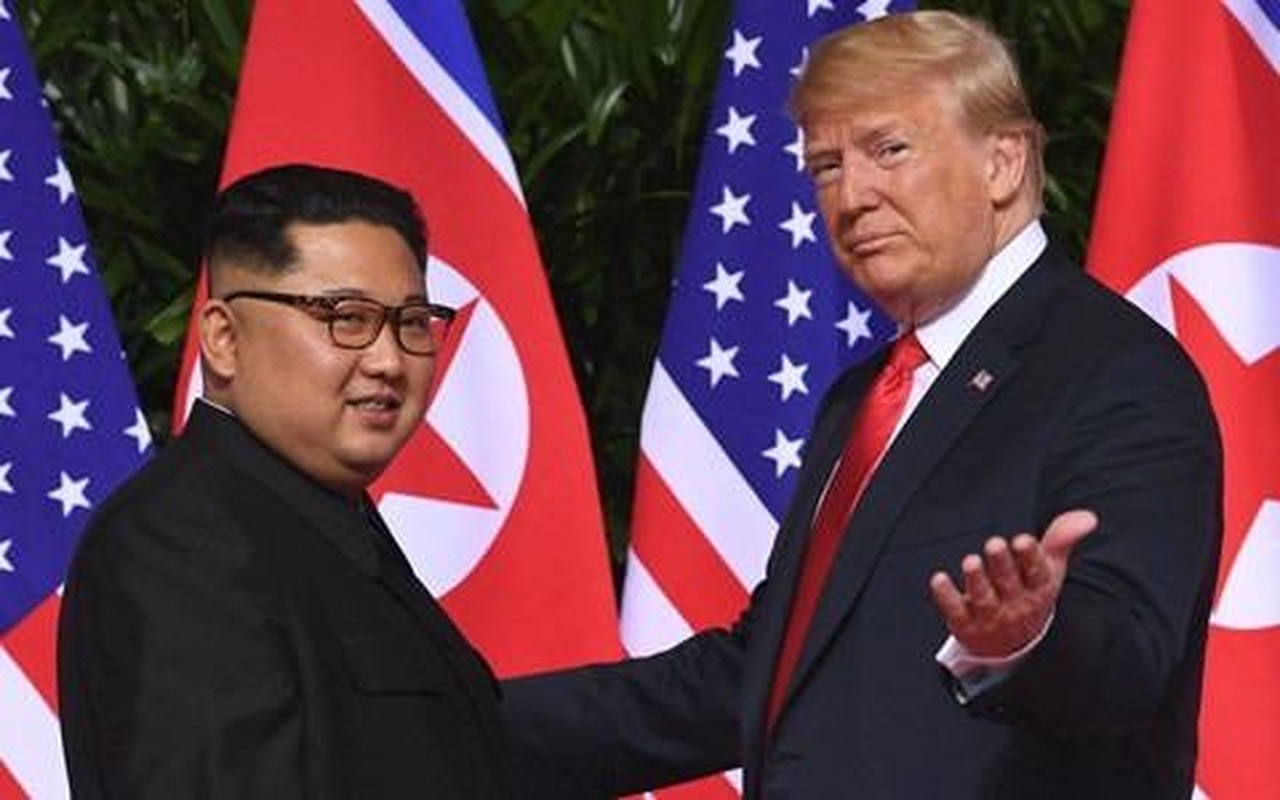 Imagem de Encontro entre Trump e Kim Jong-un tem exibição de trailer de filme falso no tecmundo