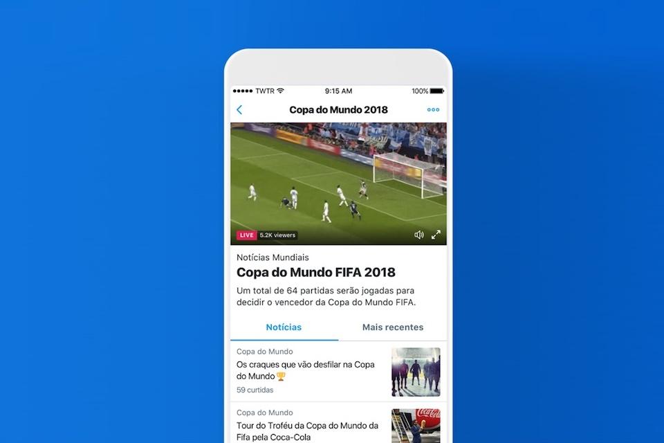 3352461d5c5 Imagem de Twitter terá seções exclusivas com vídeos e tweets sobre a Copa  do Mundo no