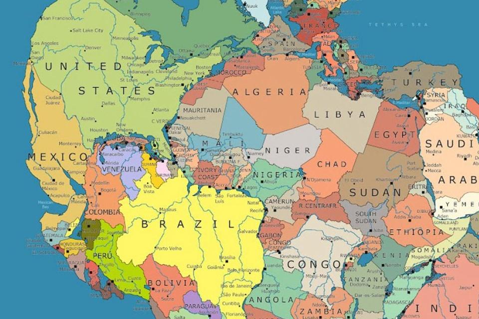 Imagem de Onde ficaria sua cidade caso o supercontinente Pangeia ainda existisse? no tecmundo