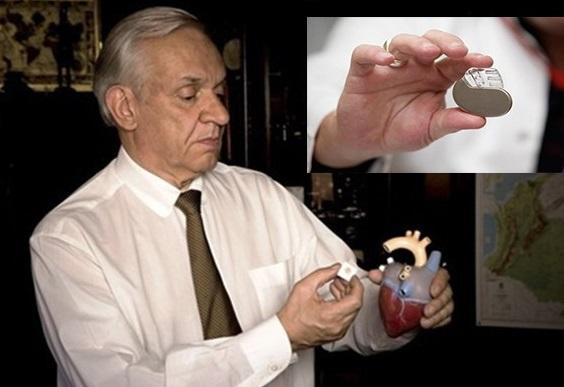 Jorge Reynolds e seu invento.