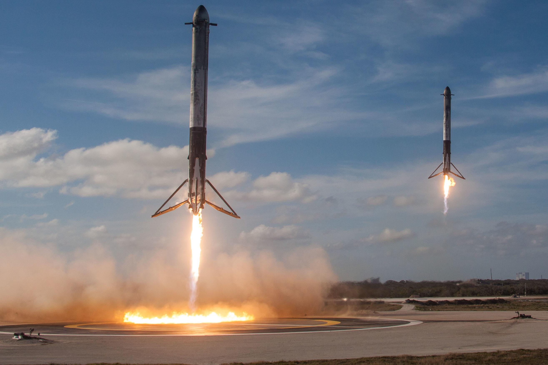 Imagem de Falcon Heavy da SpaceX ganha licitação para lançar satélite militar dos EUA no tecmundo
