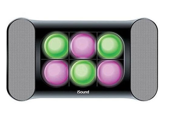 Uma caixa de som.