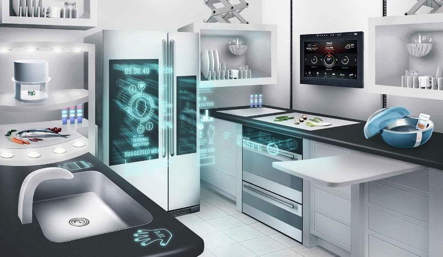 Uma cozinha.