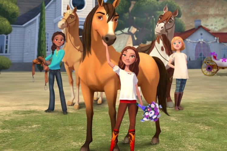 Um cavalo.