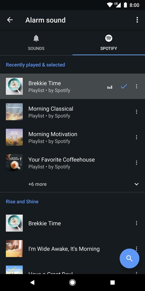 alarme spotify