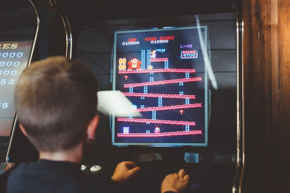 Máquina de arcade.