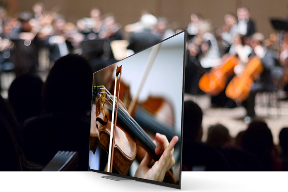 Imagem de TV OLED da Sony que emite som pela tela chega ao Brasil por R$ 10 mil no tecmundo