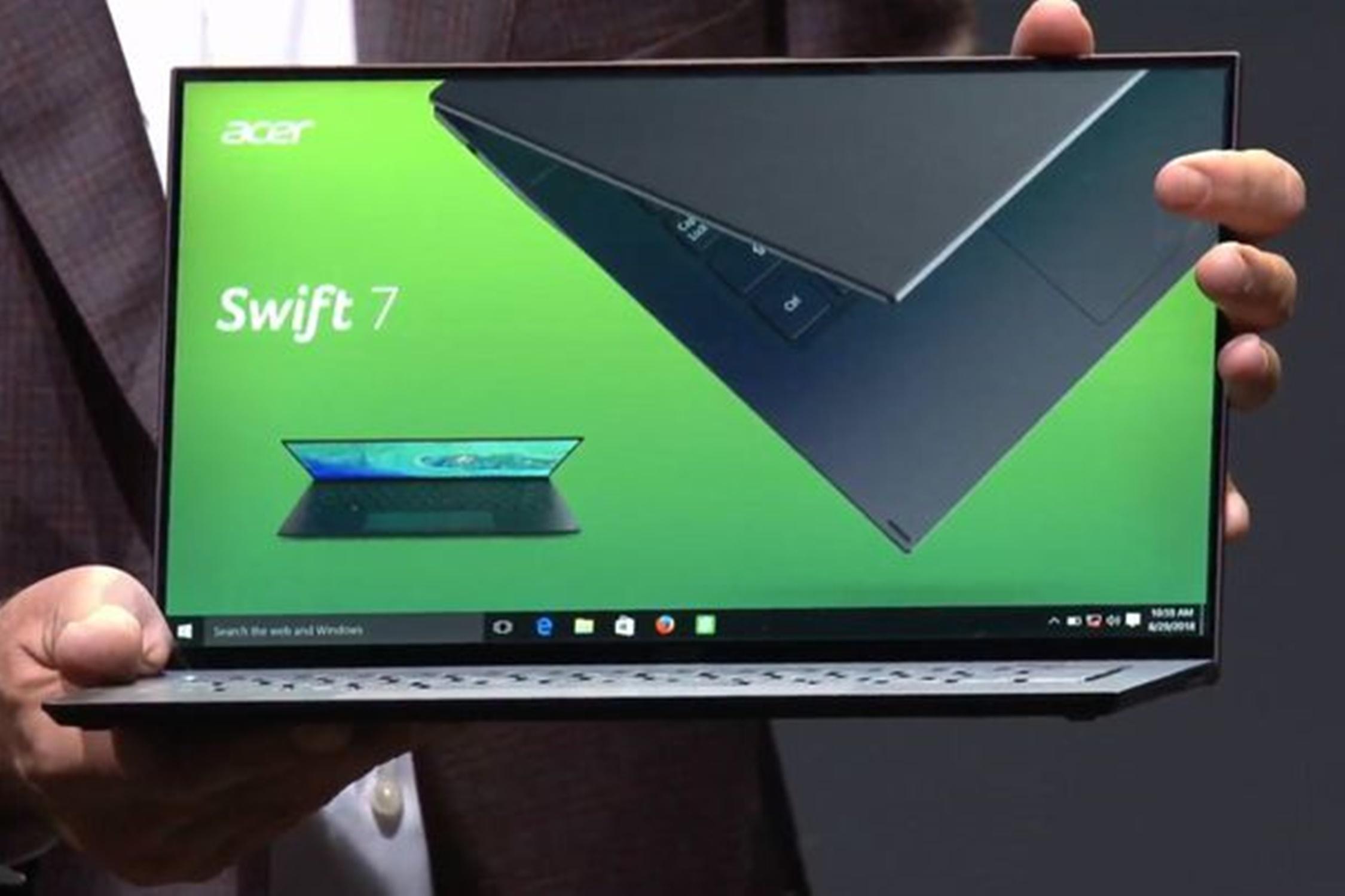 """Imagem de Swift 7: depois do """"mais leve"""", Acer lança o notebook mais fino do mundo no tecmundo"""