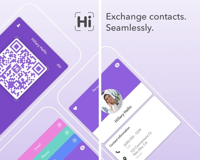 HiHello Contact Exchange