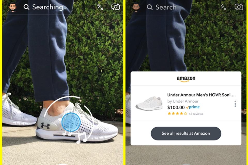 Imagem de Snapchat testa busca e compras via câmera com integração com a Amazon no tecmundo