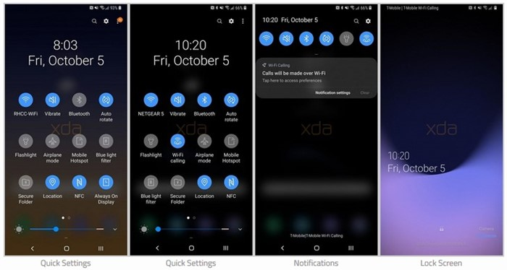 Imagens vazadas mostram Android 9 da Samsung com interface