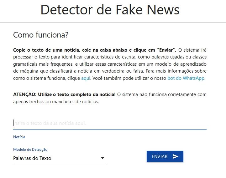 detector de fake news