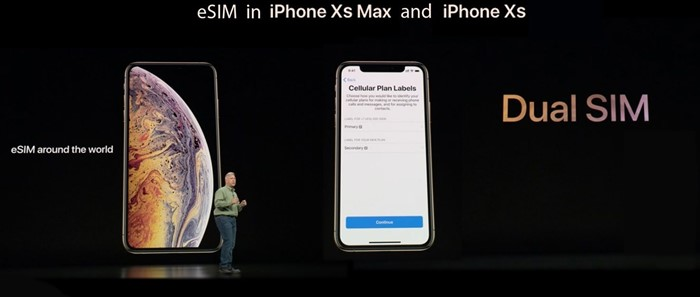 iPhone Xs Max Xr eSIM dual SIM