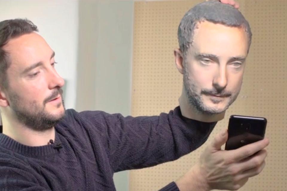 Imagem de Será que uma cópia impressa em 3D da sua cabeça desbloqueia celulares? Veja no tecmundo
