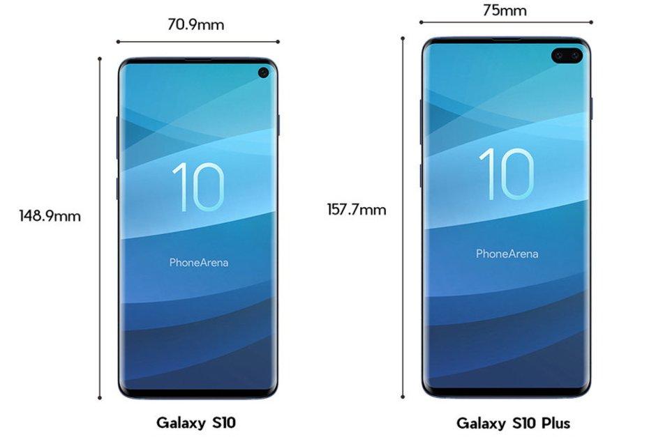 Galaxy S10 S10+ display bordas