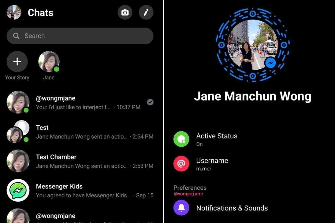 Imagem de Facebook Messenger começa a testar um tema escuro no tecmundo