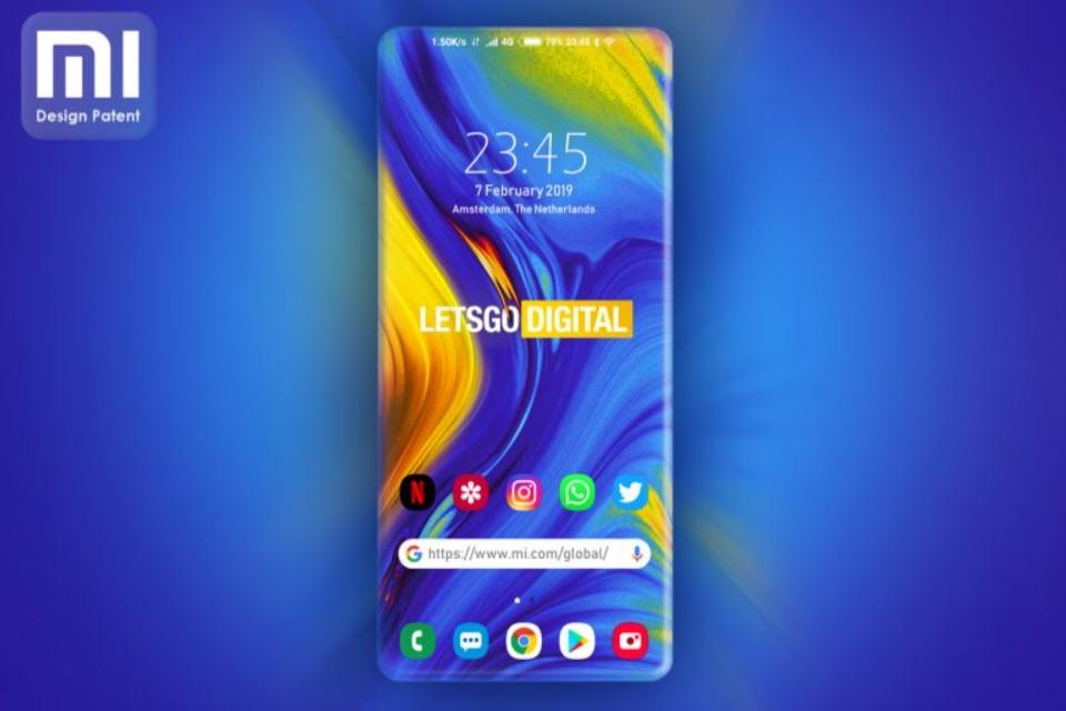 """Imagem de Xiaomi registra patente de smartphone com tela """"100%"""" sem bordas no tecmundo"""