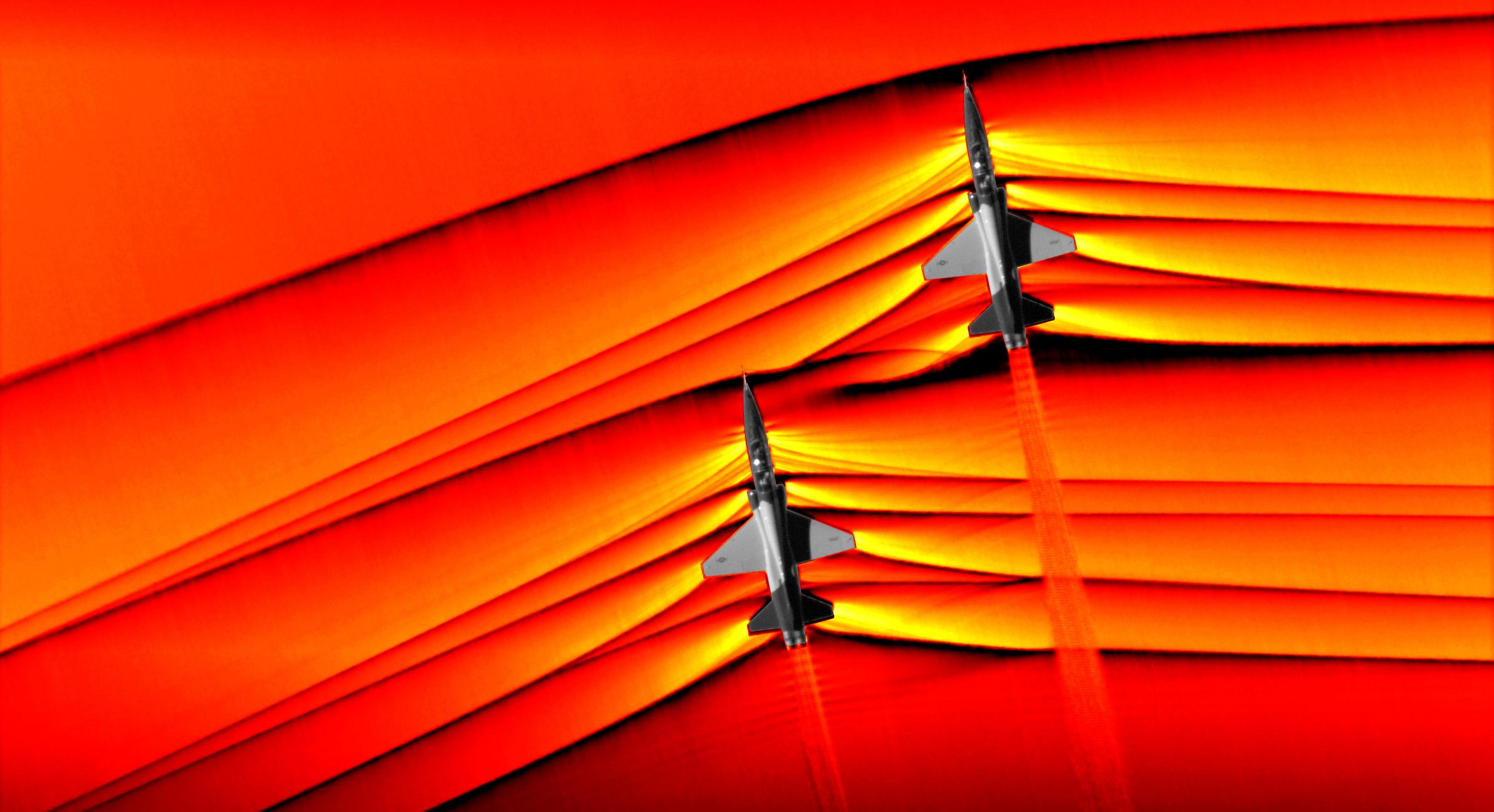 Imagem de NASA captura imagens incríveis de caças quebrando a barreira do som no tecmundo