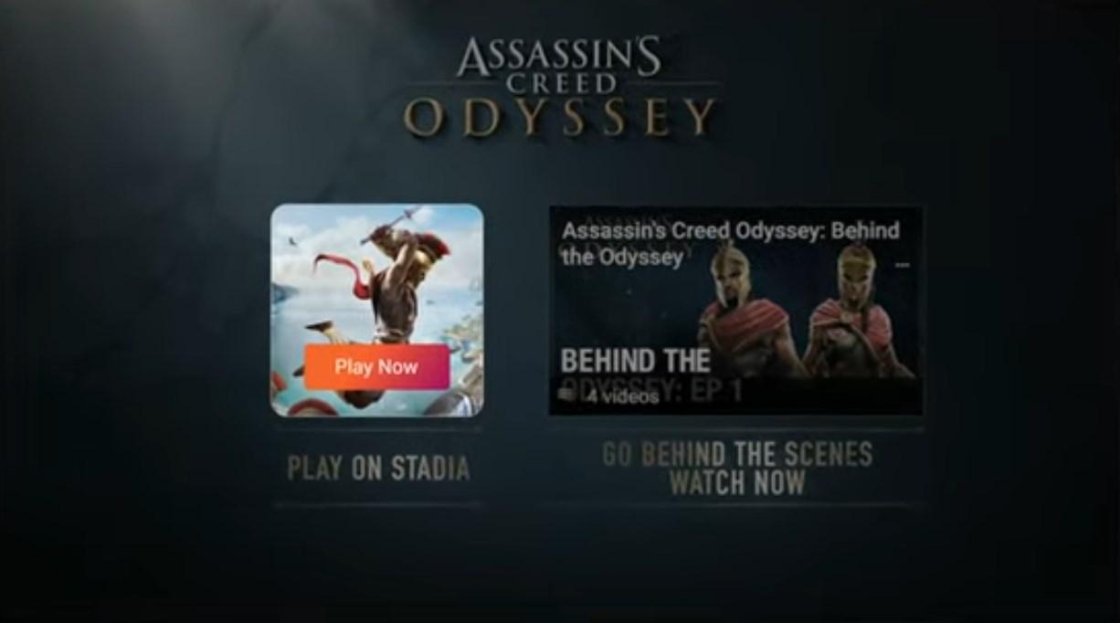 Assassin's Creed no Stadia.