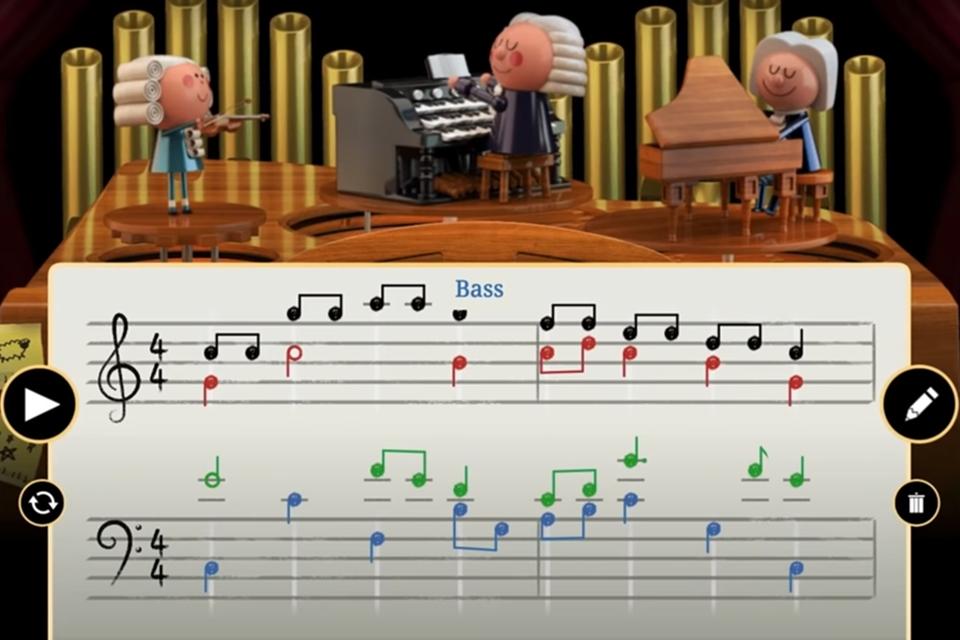 Imagem de Primeiro Doodle com IA celebra a obra de Bach com música interativa no tecmundo