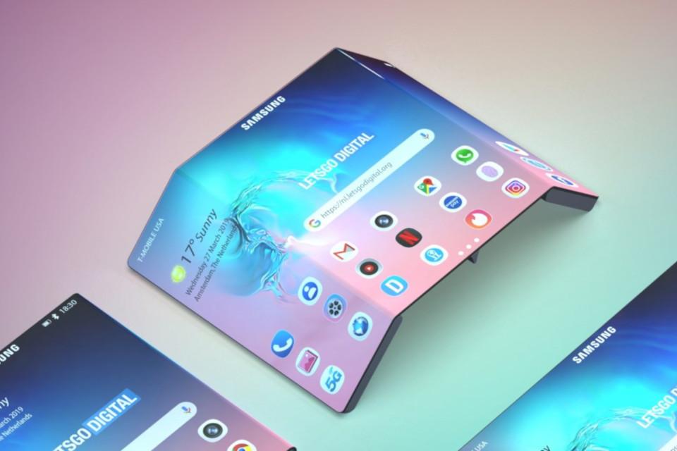 Imagem de Patente da Samsung mostra celular dobrável com visual bem diferente no tecmundo