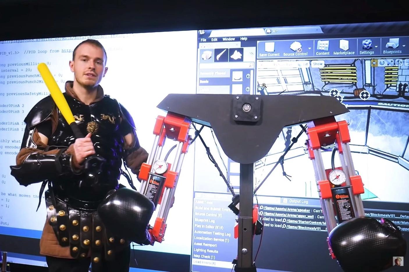 Imagem de Quer realidade? Então toma! Game em VR tem robô que bate em você de verdade no tecmundo