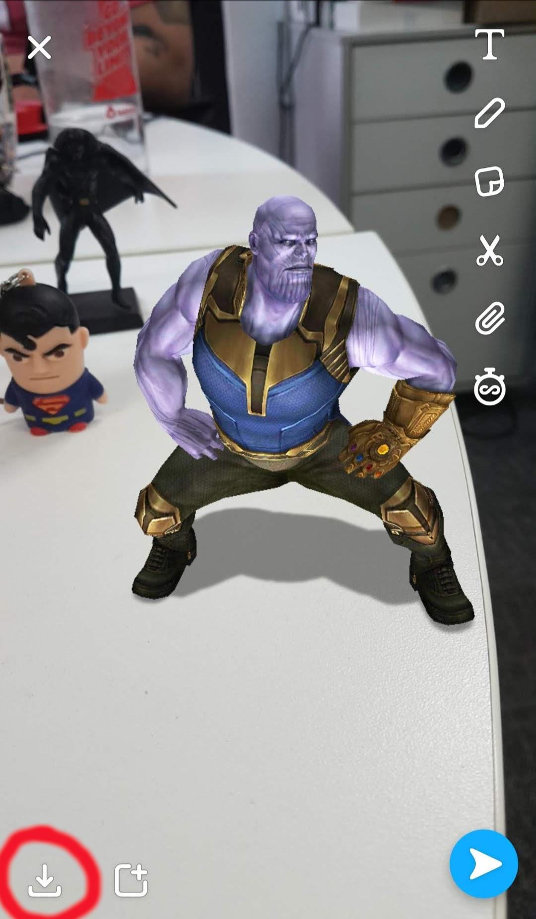 Snapchat Thanos