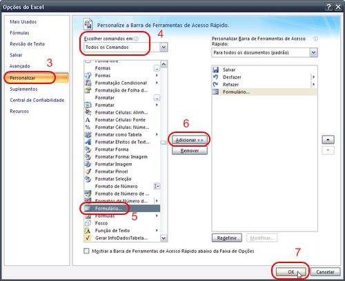 Personalize seu Excel incluindo atalhos no menu principal.