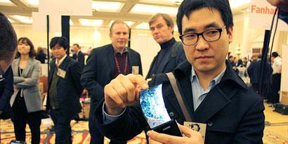 Imagem de Samsung planeja a produção de telas AMOLED flexíveis em 2012 no site TecMundo