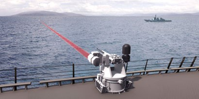 Imagem de Arma híbrida combina tiros de metralhadora e raio laser no site TecMundo