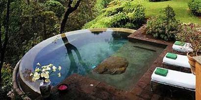 Imagem de Piscina sustentável simula paisagens naturais no site TecMundo