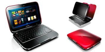 Imagem de Tablet e Netbook combinados no IdeaPad U1 Hybrid Notebook no site TecMundo