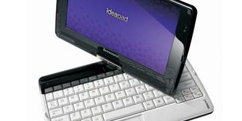 Imagem de IdeaPad S10-3t, a mistura entre tablet e netbook da Lenovo. no site TecMundo