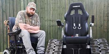 Imagem de Órgão britânico proíbe cadeirante de utilizar cadeira de rodas que se assemelha a um tanque no site TecMundo