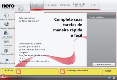 Interface do grandioso porém simples