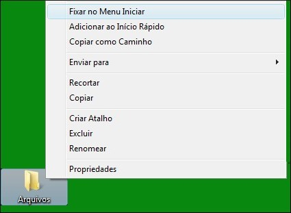 Fixar no Menu Iniciar